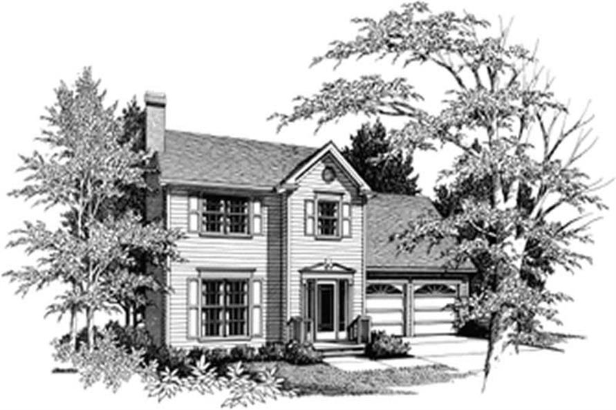 Home Plan Rendering of this 3-Bedroom,1456 Sq Ft Plan -109-1087