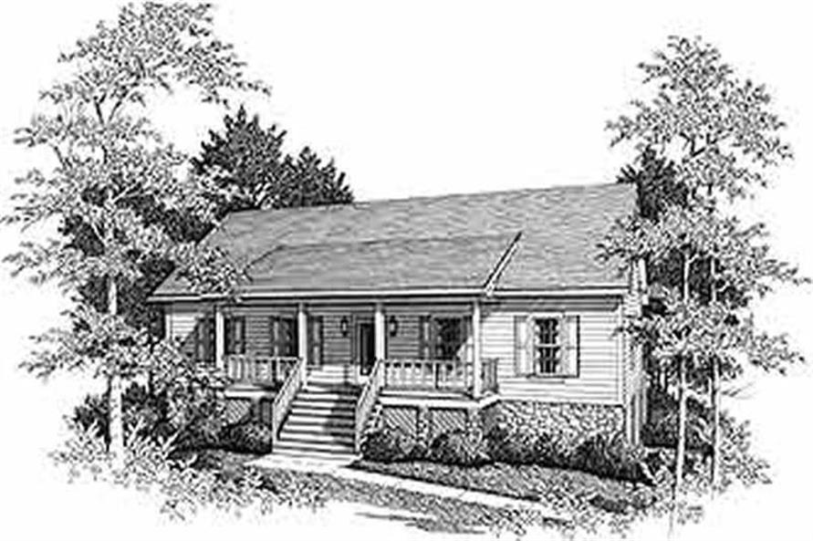 RENDERING of this 3-Bedroom,1728 Sq Ft Plan -1728