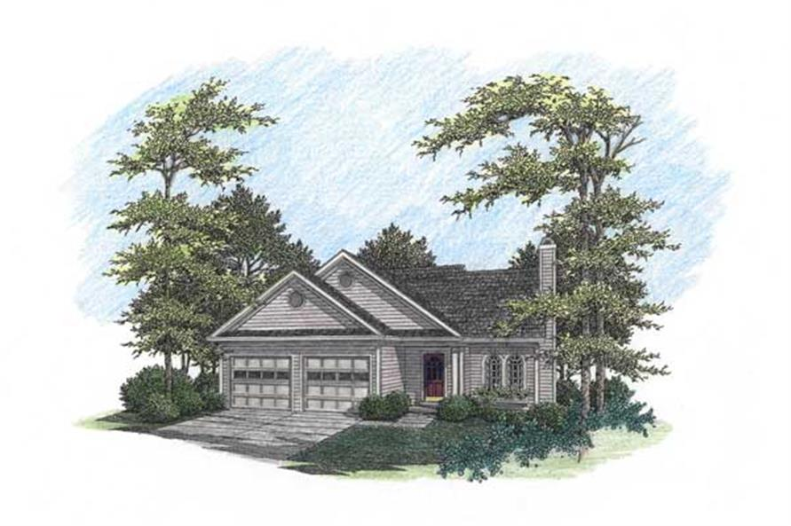 3-Bedroom, 1621 Sq Ft Ranch House Plan - 109-1089 - Front Exterior