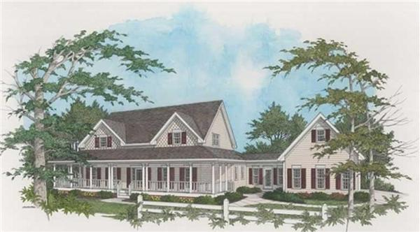 109-1093 house plan front rendering