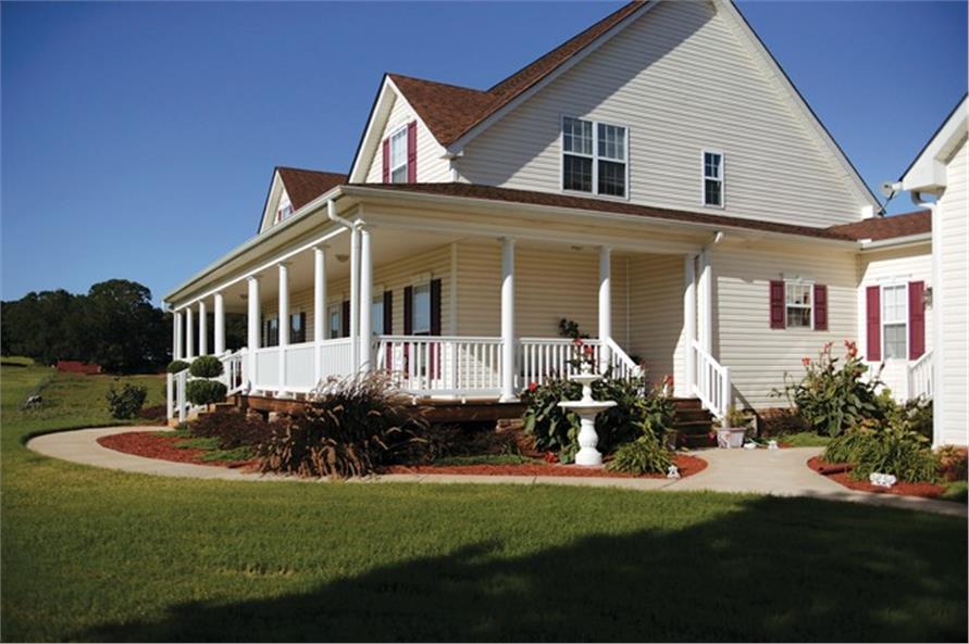 109-1093 house plan porch side view