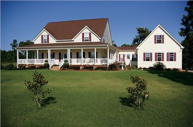 4-Bedroom, 2972 Sq Ft Farmhouse House Plan - 109-1093 - Front Exterior