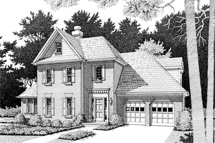 3-Bedroom, 2333 Sq Ft Colonial House Plan - 109-1097 - Front Exterior