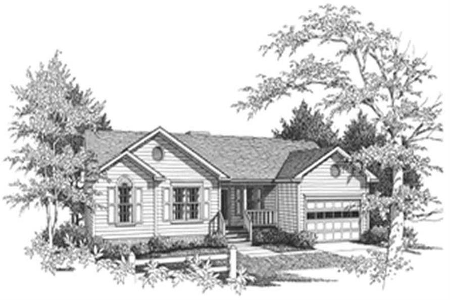 RENDERING of this 3-Bedroom,997 Sq Ft Plan -997