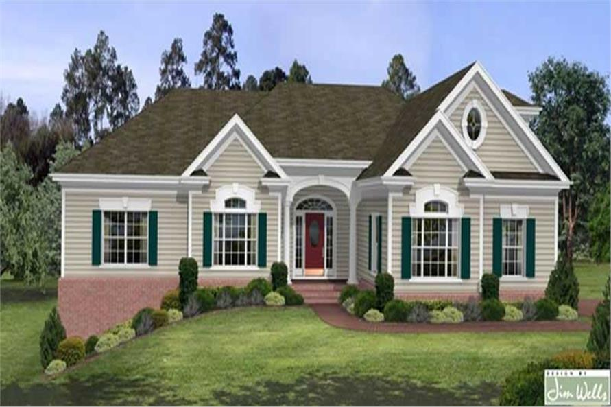 Home Plan Rendering of this 3-Bedroom,2461 Sq Ft Plan -109-1103