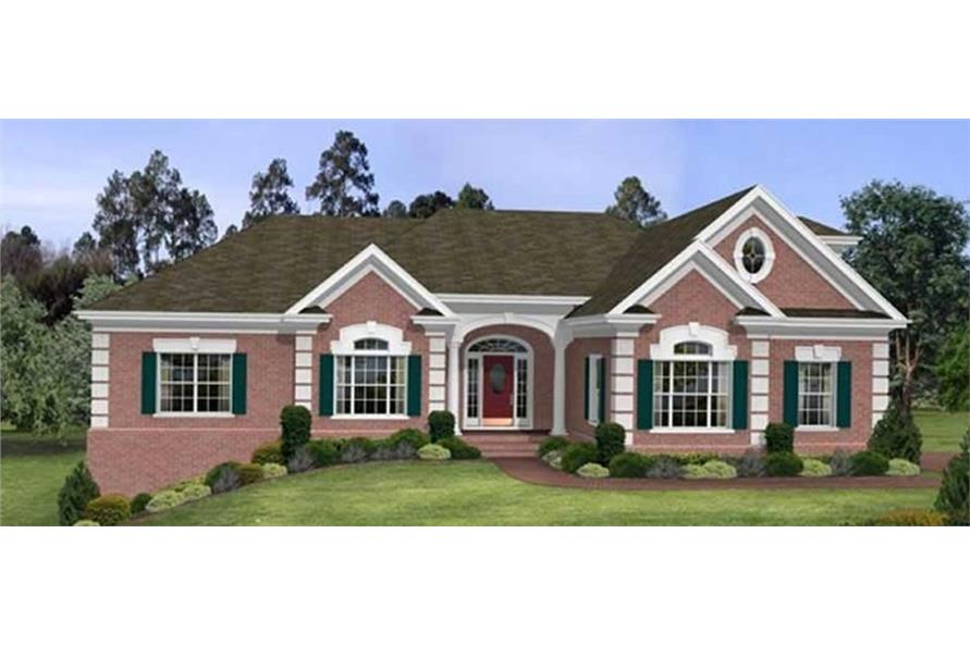 Home Plan Front Elevation of this 3-Bedroom,2461 Sq Ft Plan -109-1103