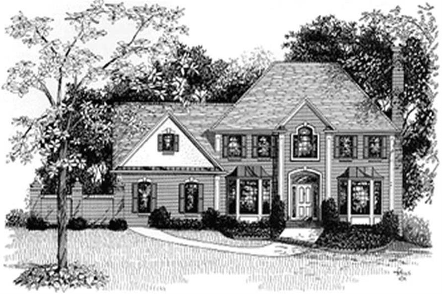 4-Bedroom, 2460 Sq Ft European Home Plan - 109-1105 - Main Exterior
