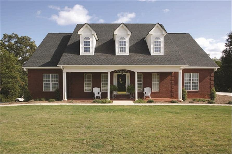 4-Bedroom, 1992 Sq Ft Colonial Home Plan - 109-1112 - Main Exterior