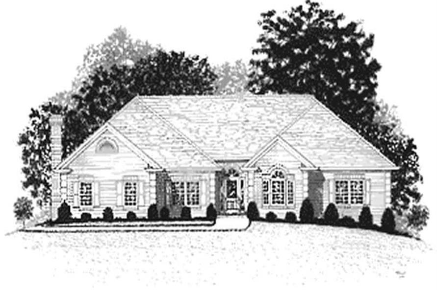 4-Bedroom, 2499 Sq Ft Ranch Home Plan - 109-1117 - Main Exterior