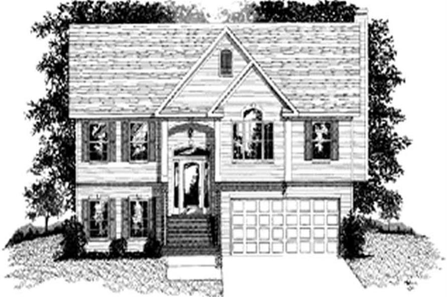 2-Bedroom, 999 Sq Ft Small House Plans - 109-1119 - Front Exterior