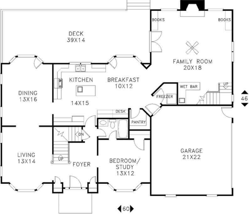 European french home with 4 bedrms 3260 sq ft plan for 1120 westchester place floor plan