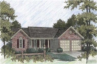 3-Bedroom, 1197 Sq Ft Country House Plan - 109-1121 - Front Exterior