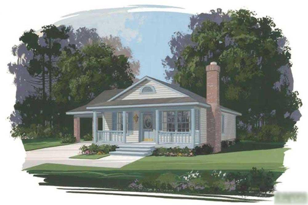 Main image for house plan # 14383