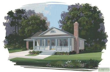 3-Bedroom, 1050 Sq Ft Country House Plan - 109-1126 - Front Exterior