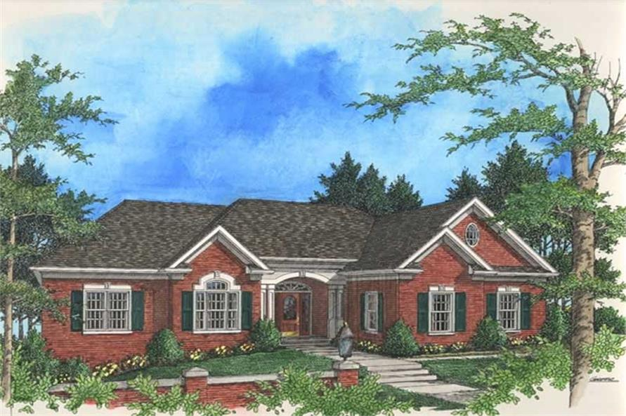 3-Bedroom, 2398 Sq Ft Colonial Home Plan - 109-1127 - Main Exterior