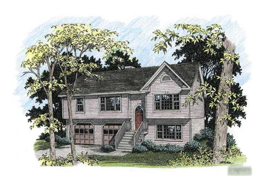 3-Bedroom, 1579 Sq Ft Ranch Home Plan - 109-1129 - Main Exterior