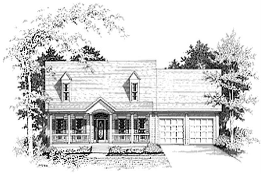 3-Bedroom, 1713 Sq Ft Cape Cod House Plan - 109-1131 - Front Exterior
