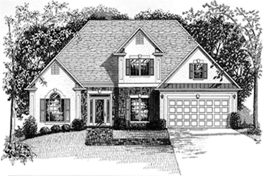 Home Plan Rendering of this 4-Bedroom,1871 Sq Ft Plan -109-1132