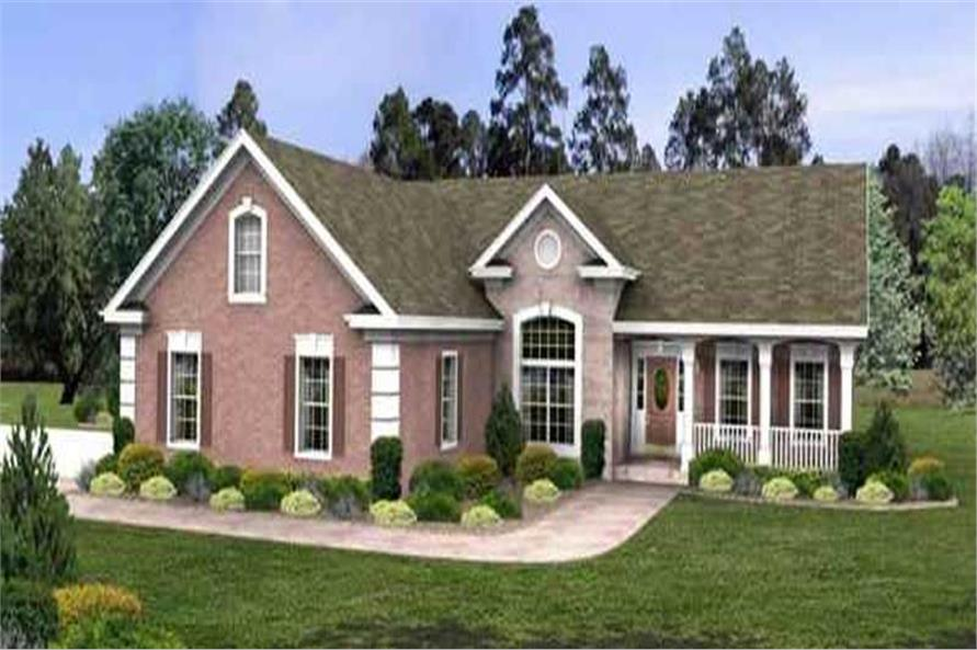 3-Bedroom, 1963 Sq Ft Ranch Home Plan - 109-1133 - Main Exterior