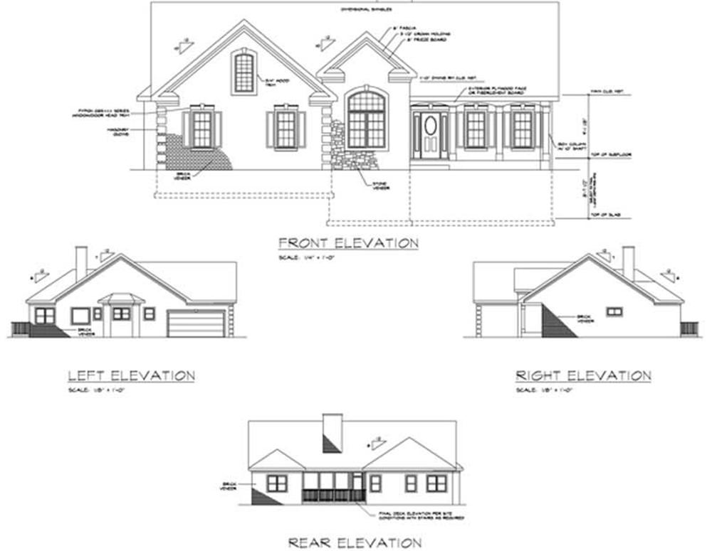 Rear elevation house plans house plans for What is rear elevation