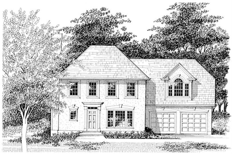 3-Bedroom, 1658 Sq Ft European Home Plan - 109-1137 - Main Exterior