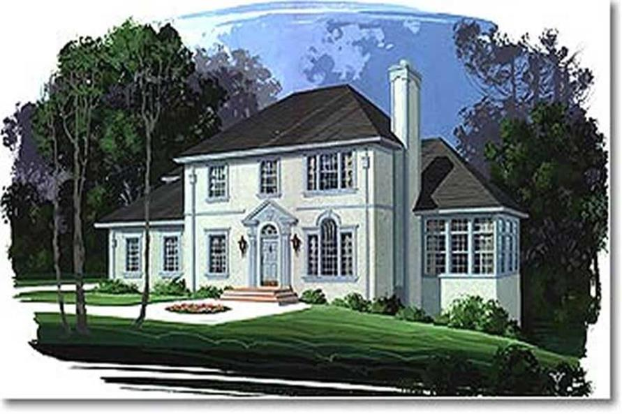 4-Bedroom, 2296 Sq Ft European House Plan - 109-1142 - Front Exterior