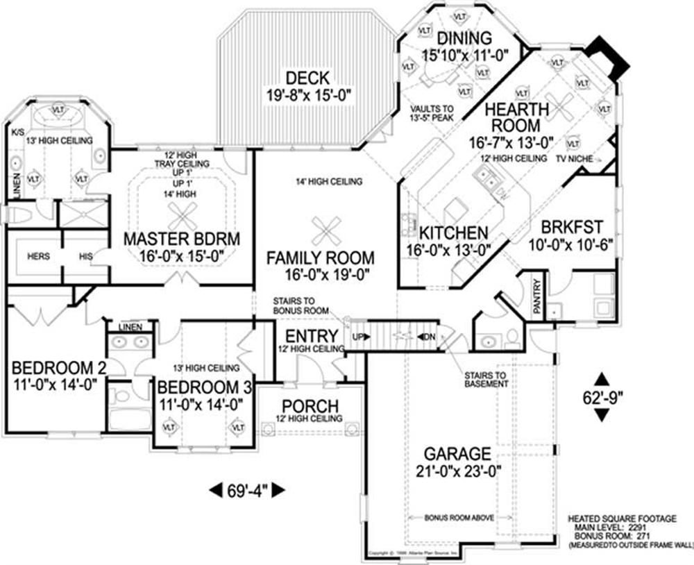 Large images for house plan 109 1143 for The plan collection house plans
