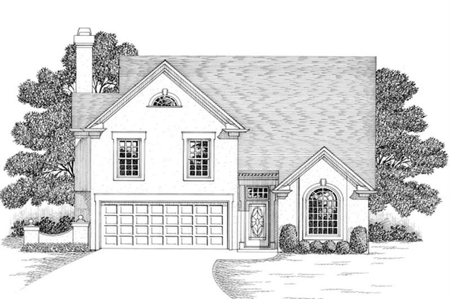 3-Bedroom, 1776 Sq Ft Ranch House Plan - 109-1146 - Front Exterior