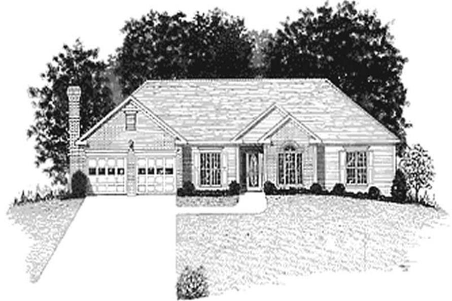 4-Bedroom, 1814 Sq Ft Craftsman Home Plan - 109-1149 - Main Exterior