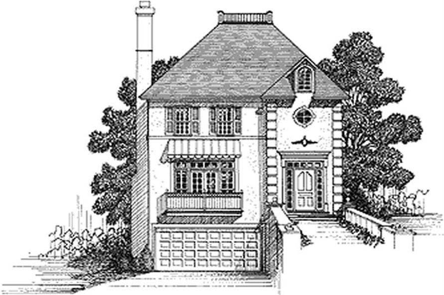 3-Bedroom, 2005 Sq Ft European Home Plan - 109-1150 - Main Exterior