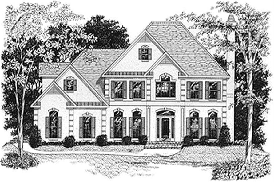 4-Bedroom, 2897 Sq Ft European House Plan - 109-1154 - Front Exterior