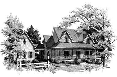 4-Bedroom, 3483 Sq Ft Cape Cod House Plan - 109-1159 - Front Exterior