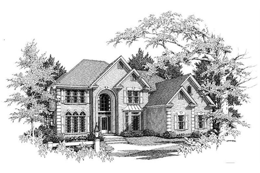 Home Plan Rendering of this 5-Bedroom,3500 Sq Ft Plan -3500