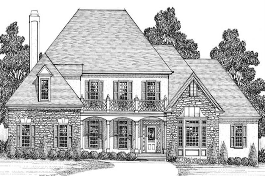 4-Bedroom, 4030 Sq Ft European House Plan - 109-1161 - Front Exterior