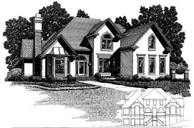 4-Bedroom, 4060 Sq Ft Craftsman Home Plan - 109-1163 - Main Exterior