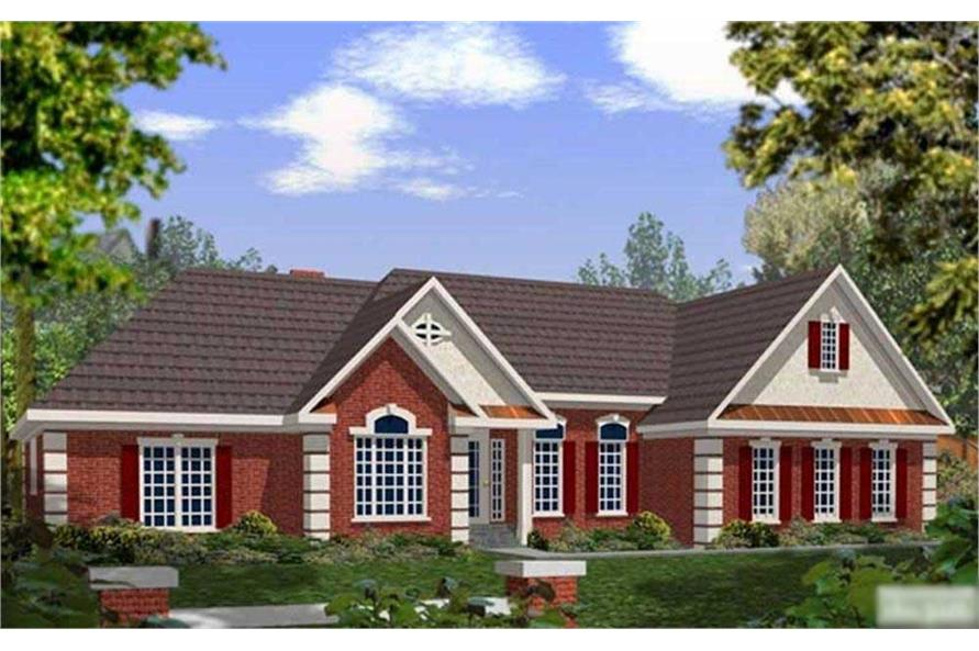 4-Bedroom, 2187 Sq Ft Ranch Home Plan - 109-1166 - Main Exterior