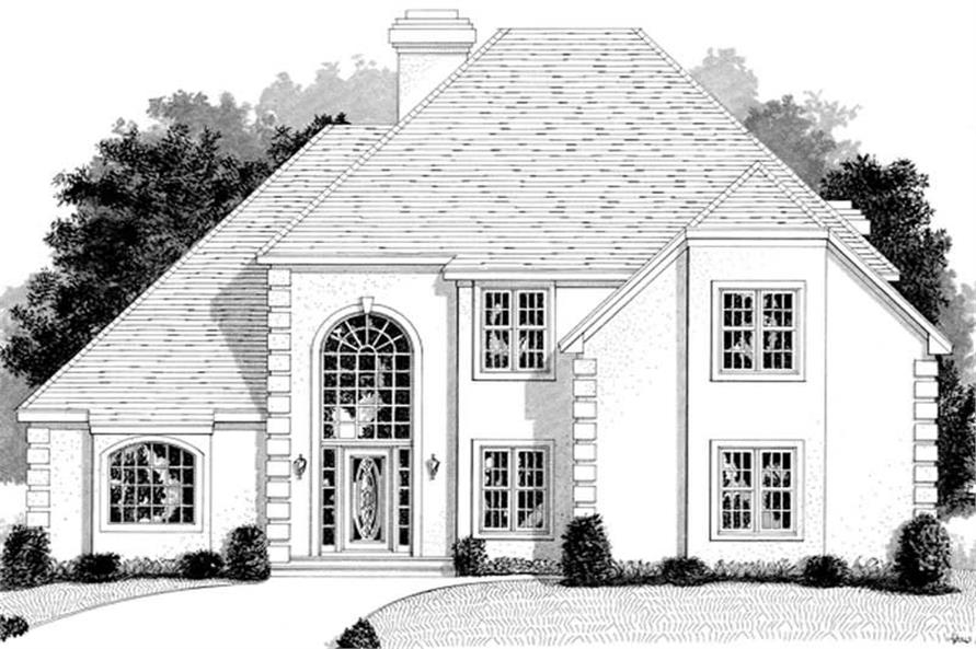 3-Bedroom, 3011 Sq Ft European Home Plan - 109-1170 - Main Exterior
