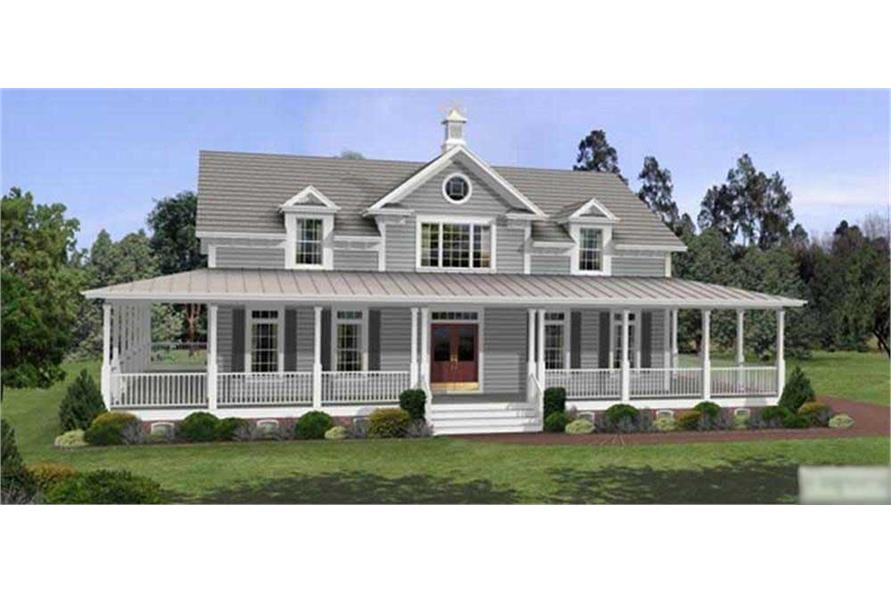 3-Bedroom, 2098 Sq Ft Country Home Plan - 109-1177 - Main Exterior