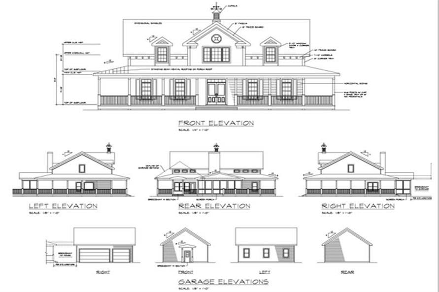 Home Plan Rear Elevation of this 3-Bedroom,2098 Sq Ft Plan -109-1177