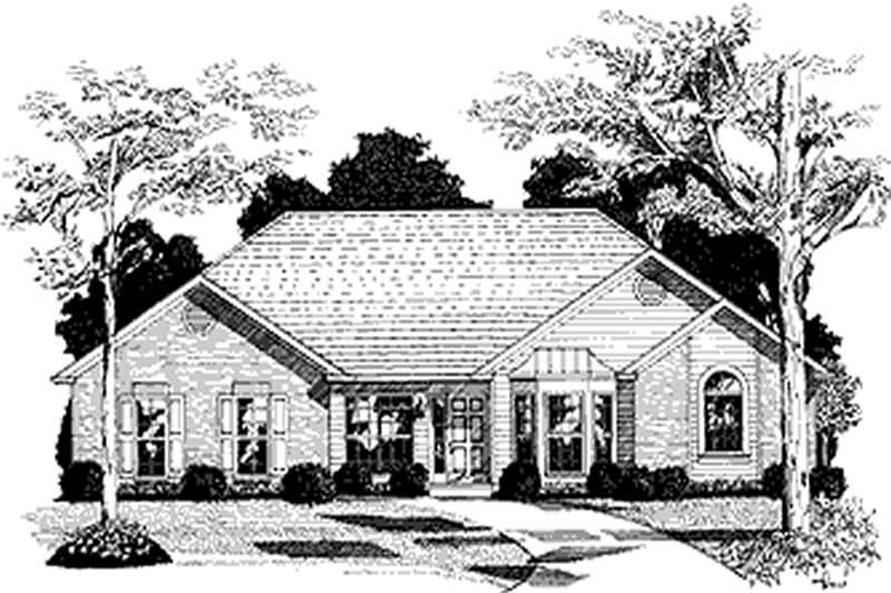 3-Bedroom, 2022 Sq Ft Ranch Home Plan - 109-1178 - Main Exterior