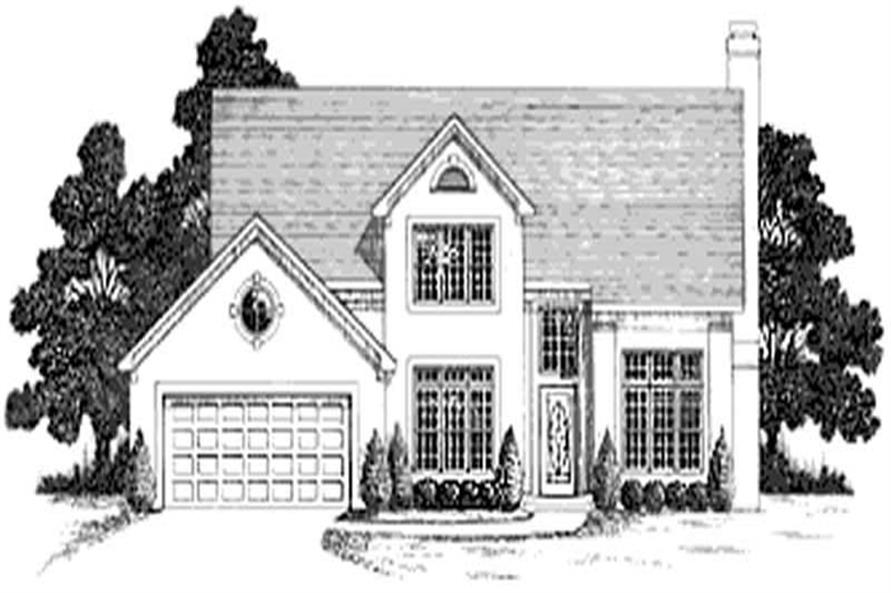 4-Bedroom, 2292 Sq Ft European House Plan - 109-1181 - Front Exterior