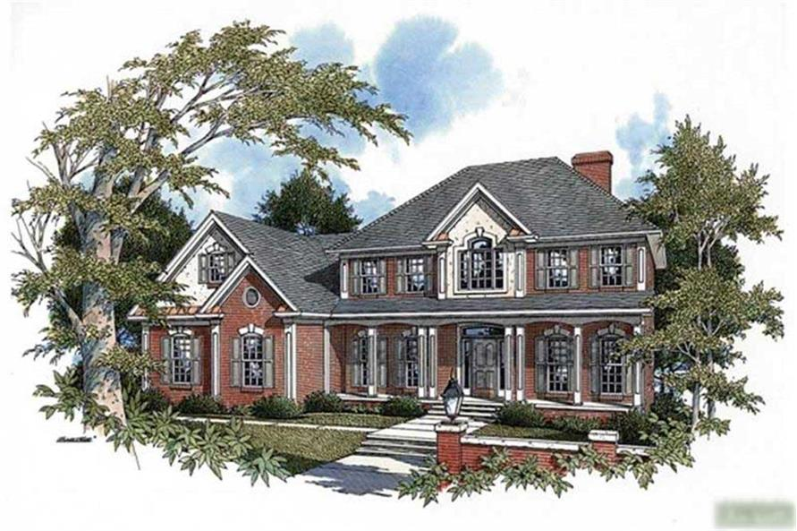 4-Bedroom, 2546 Sq Ft Colonial House Plan - 109-1185 - Front Exterior