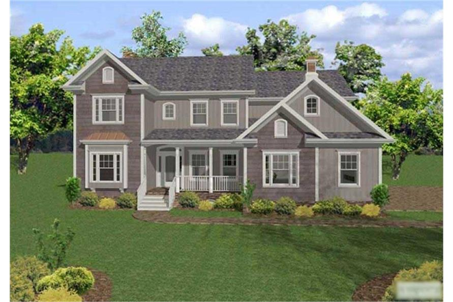 5-Bedroom, 2698 Sq Ft European Home Plan - 109-1189 - Main Exterior