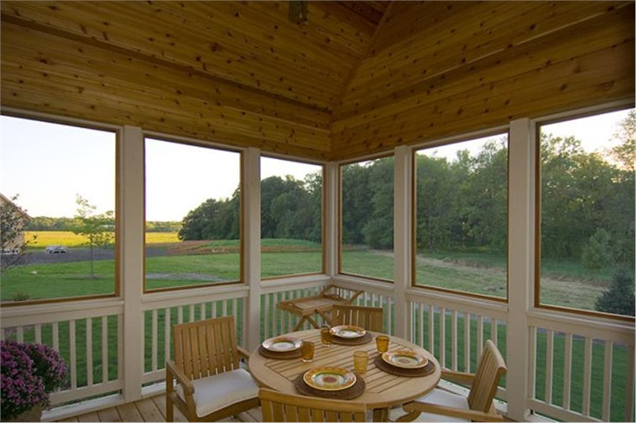 Screened Porch of this 4-Bedroom,2909 Sq Ft Plan -2909