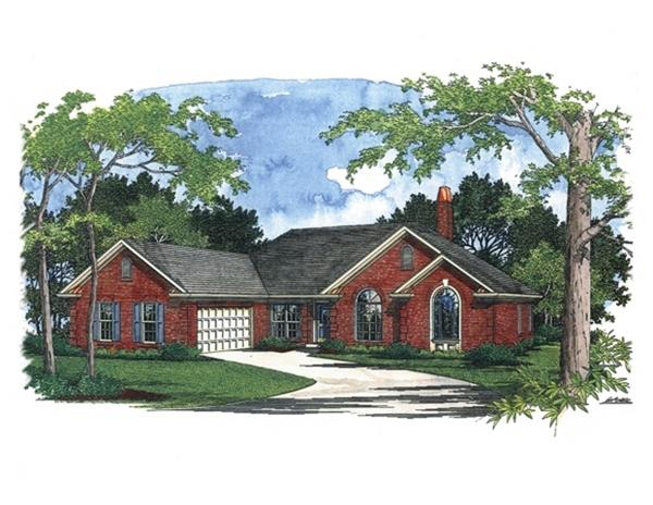109-1192 house plan original front elevation