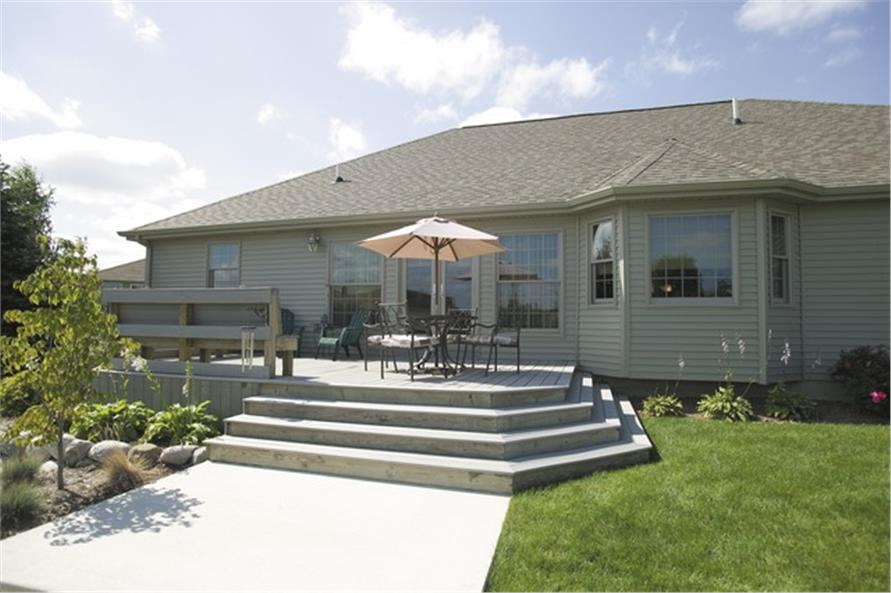 Rear with deck of this 3-Bedroom,2275 Sq Ft Plan -2275