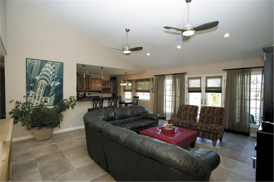 Family room facing kitchen of this 3-Bedroom,2275 Sq Ft Plan -2275