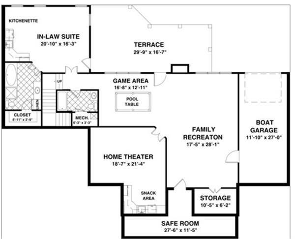 109-1193: Floor Plan Basement