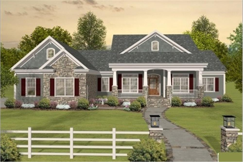 Country home plan (ThePlanCollection: House Plan #109-1193)