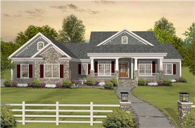 3-4 Bedroom, 2156 Sq Ft Country House Plan - 109-1193 - Front Exterior